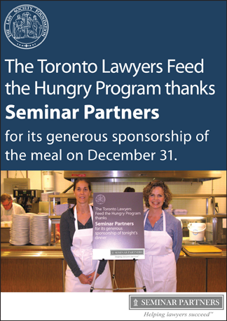 Seminar Partners is an accredited provider of continuing legal education and CPD in Canada